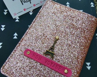 Bling Personalized Passport cover - Rose Gold edition