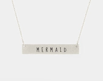 Mermaid Dainty necklace- Silver