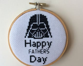 Darth vader Father's Day Star Wars cross stitch