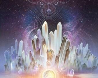 6 oz Astrology Cosmic Candle Chakra Set