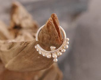 Septum silver ring