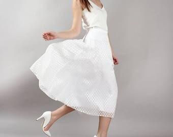 Polka dot points - wedding - wedding skirt