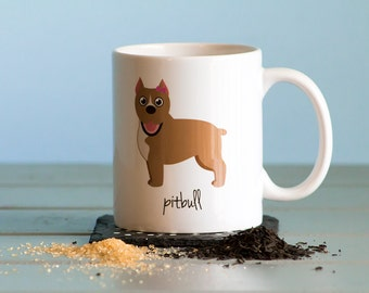 Pitbull Mug (cropped ears - girl)