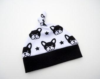 Baby knot hat-Baby beanie hat-Newborn hat-Baby dogs hat-Baby boy hat-Baby gender neutral knot hat