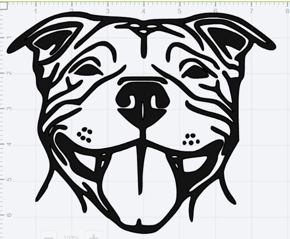 Smiling Pitbull Svg Eps Dxf Studio 3 Cut Files From
