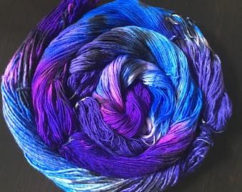 Kamikaze Butterfly -- handdyed super bulky yarn -- superwash merino