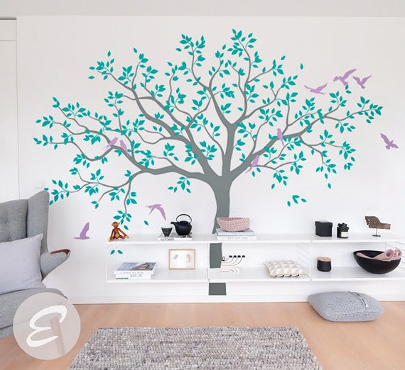 großer baum wand aufkleber baum aufkleber für kinderzimmer - Baum Interieur