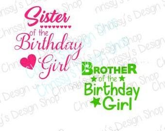 Birthday girl SVG / Birthday girl cut file / sister svg / brother svg / dxf / eps / png / birthday girl clip art / birthday scrapbook