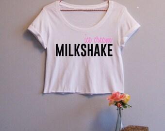Ice Cream Milkshake Women's Crop Tee