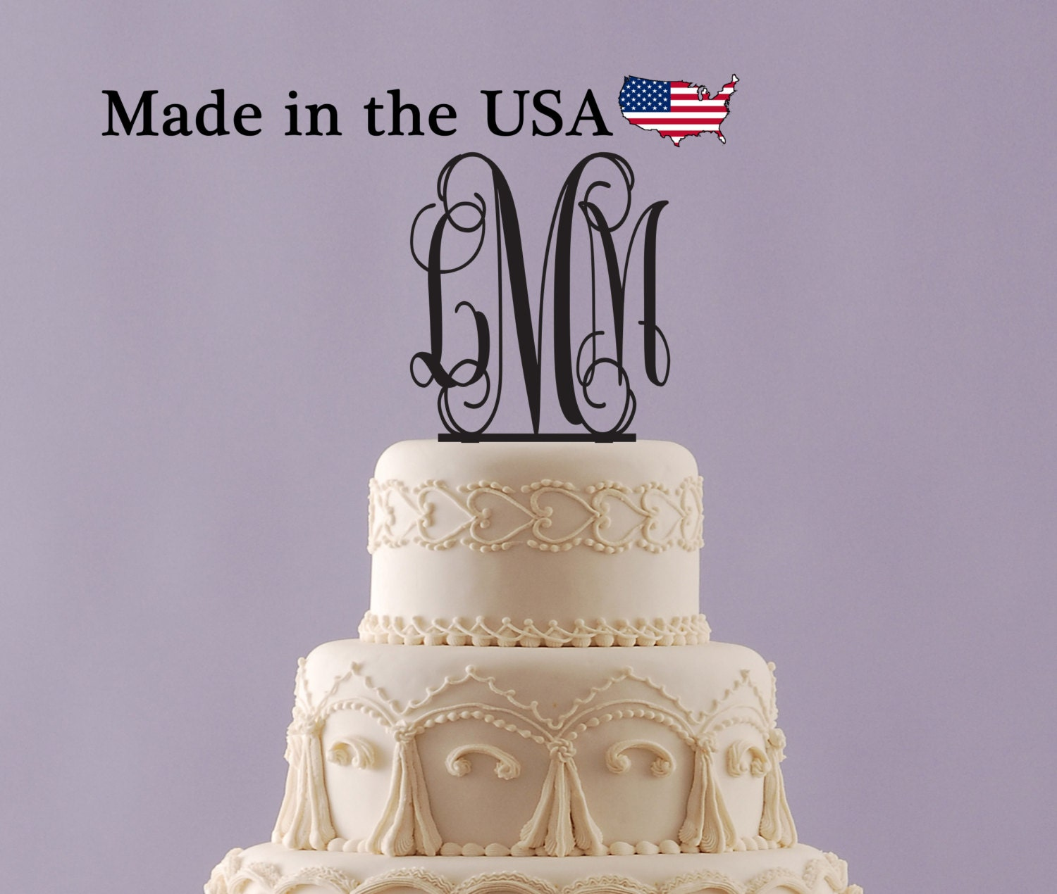 how to make acrylic monogram cake topper