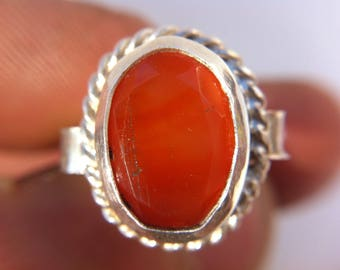 Carnelian ring hand made in the heart of paonia