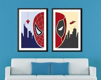 Marvel Minimalist: Spiderman & Deadpool Set