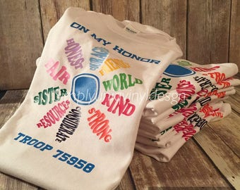 Daisy Shirt | Girl Scout | Girl Scout Law | Girl's shirt