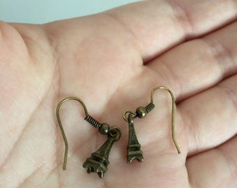 Tiny Eiffel Tower Earrings