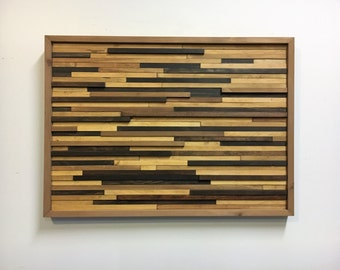 Wood Stained Slats Wall Art