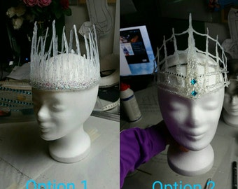 Ice Snow crown Cosplay Headpiece