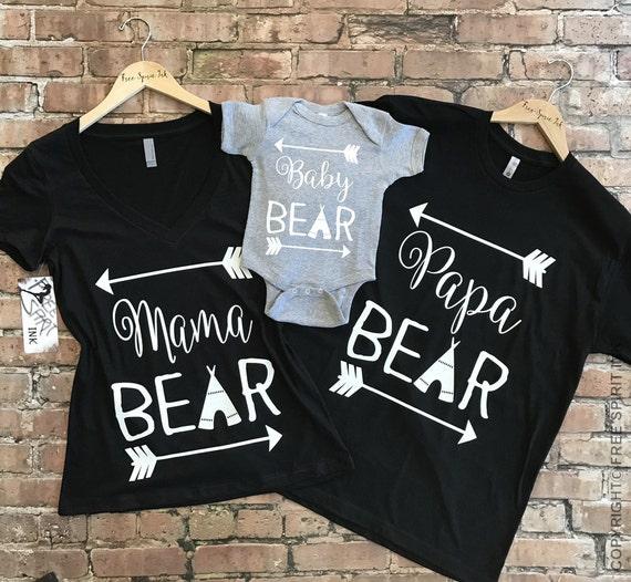 Mama Bear Papa Bear Baby Bear Shirts Mama Bear Papa Bear
