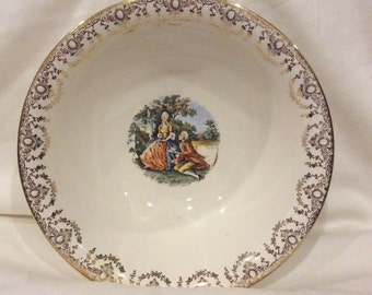 Homer Laughlin Courting Couple Bowl