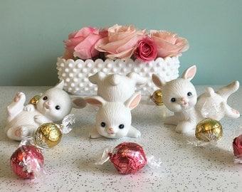 Homco Ceramic Bunny Trio