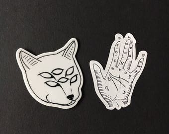 Tattoo Flash Small Vinyl Stickers
