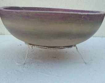 Striped Purple Bowl