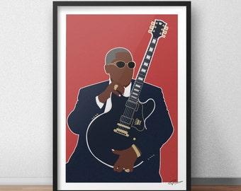 B.B. King INSPIRED Print / Poster