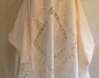 WRAITHANDFEY summer halter neck handkerchief dress white magnolia ivory pearl upcycled beach cover up