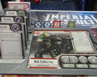 Imperial Assault Game Gear:  Hero Dashboard 2 Pack