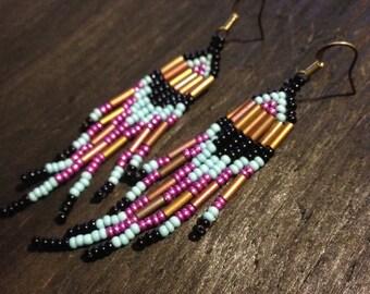 Authentic Native tribal beaded earrings