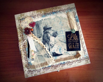 """Decoupage Tea Box """"My Gift"""" , Perfect Gift for Woman, and Tea Lovers"""