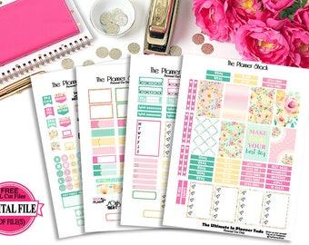 Summer Bloom // Happy Planner // Printable Planner Stickers