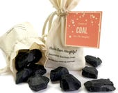You've been naughty!  Lumps Of Coal Soap To Help You Clean Up Your Act || Hand Cut Activated Charcoal Soap  || Stocking Stuffer or Gag Gift