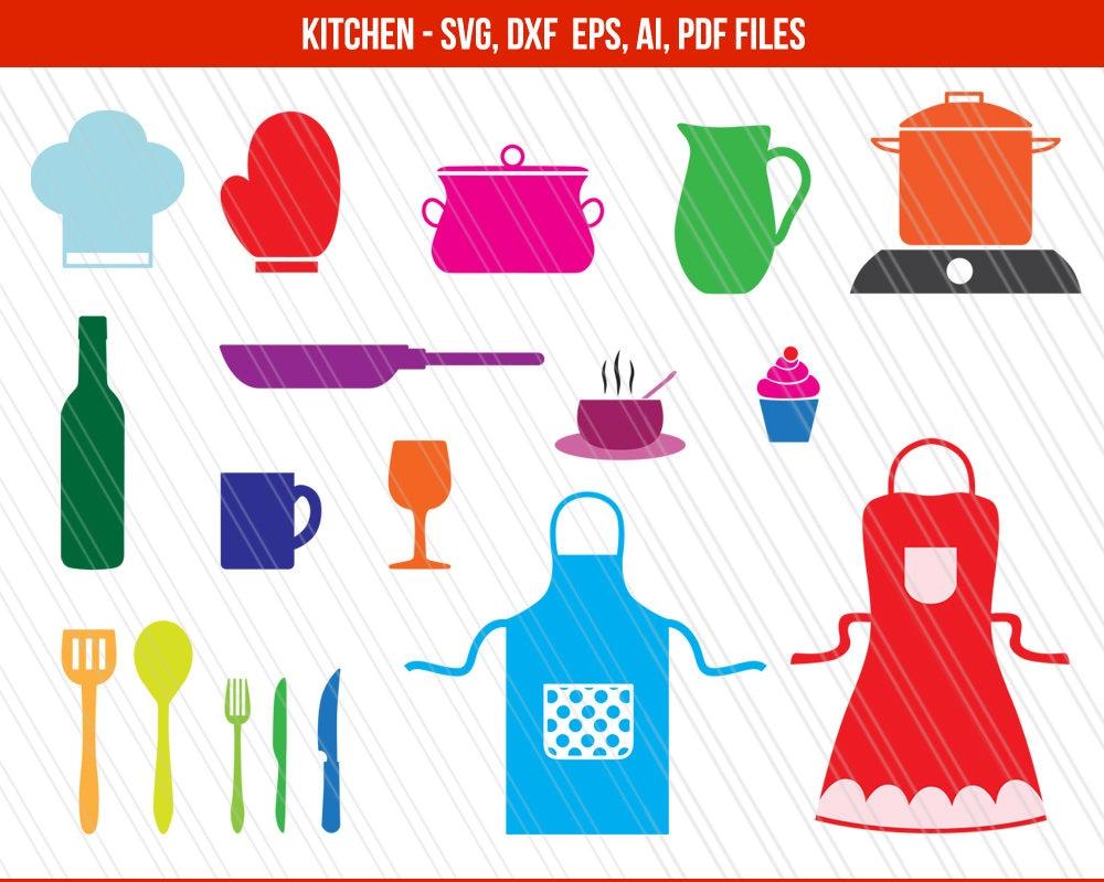 Kitchen svg kitchen utensils clipart restaurant clip art chef -  Zoom