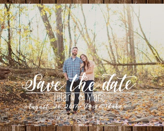 DIGITAL OR PRINTED Calligraphy Save the date invitation template; customizable, printable