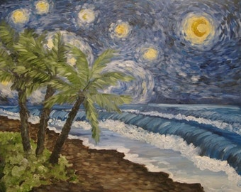Custom 18x24 Starry Night @ your Location.