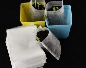 Garden Nursery Supplies - 20 x Seedling Raising Bags (8x10cm) - will decompose