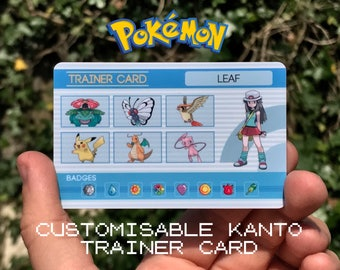 Custom Pokémon Trainer Card [Kanto Design]