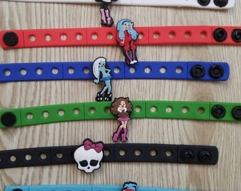 10  Monster High Silicone Bracelets Party Favors
