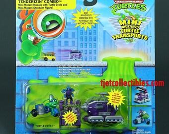 TMNT Turtle Tenderizin' Combo Mini Mutants Turtle Transports 1994 Playmates