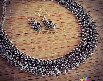 German Silver Kasu Necklace Set