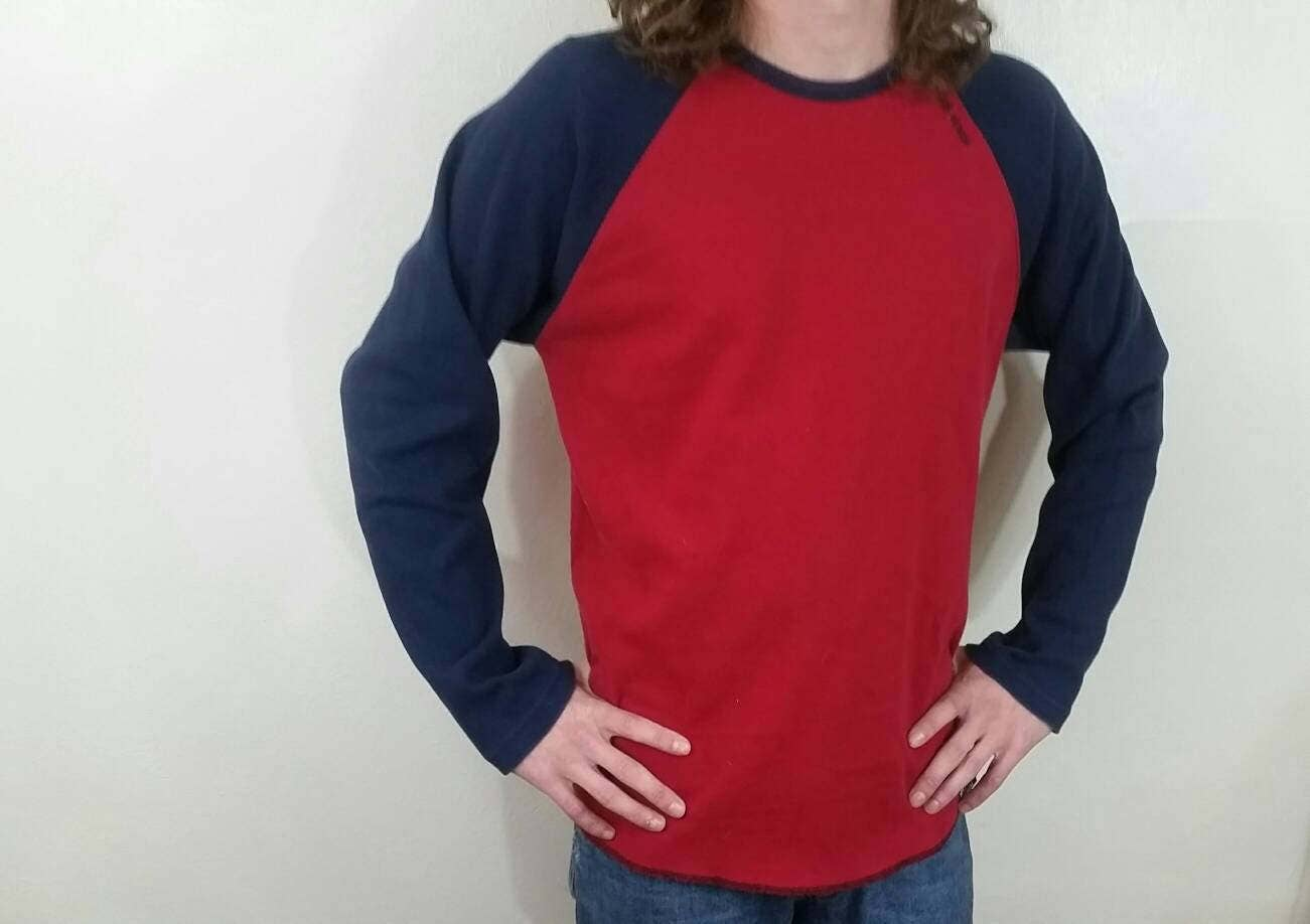 red navy 90s tommy hilfiger shirt size medium 90s. Black Bedroom Furniture Sets. Home Design Ideas