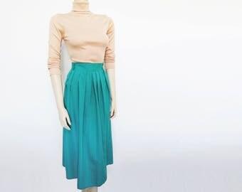 Free Global Shipping* Green Boho Skirt, UK16, Hippie, 1990s, Long Skirt, Festival Clothing, Wedding, Skirt, Gypsy Skirt, Ladies Clothing