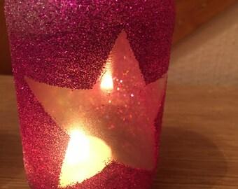 Glitter candle / tealight holder