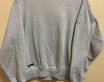 Vintage 90's Champion Classic Design Sweat Shirt Sweater Varsity Jacket Size XL #A715