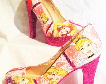 Disneys princess heels * * * uk sizes 3-8 * * *