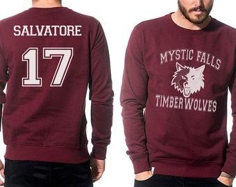 Mystic Falls sweatshirt Salvatore Vampire Diaries Unisex S - XXL
