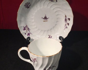 Flight Barr Worcester Tea Cup and Bowl 1795-1805