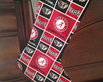 Alabama Christmas Stocking, Bama Christmas Stocking, Football Christmas Stocking, Sports Christmas Stocking, Christmas Stocking, Roll Tide