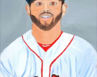 Blake Swihart Boston Red Sox 8x10 Oil Painting Print