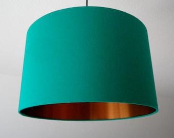 "Lampshade ""Greenturquoise-copper"""